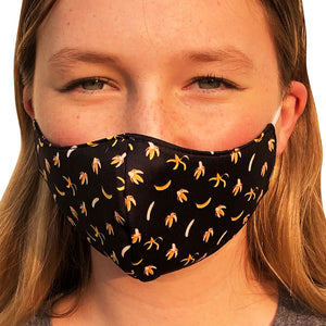 Banana Lightweight Reversible Ear Loop Adult Face Mask Made In USA