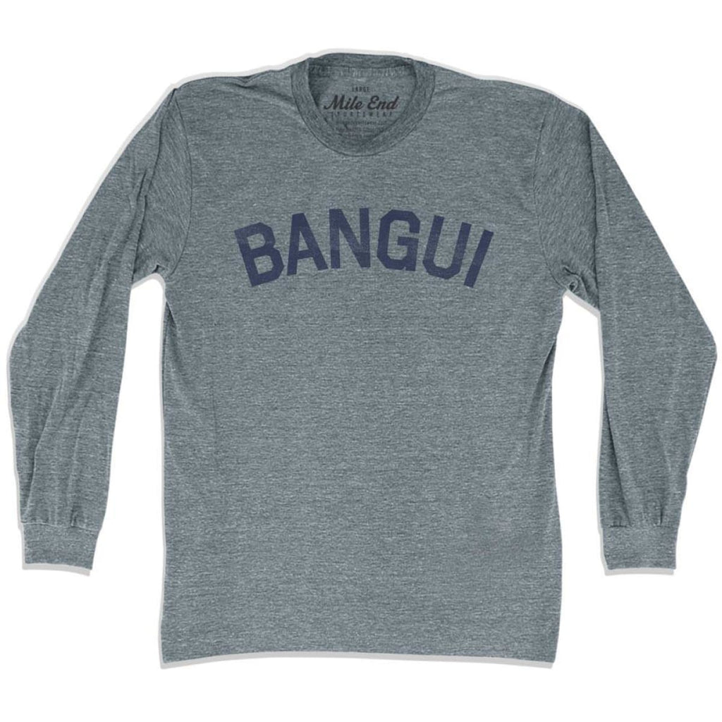 Bangui City Vintage Long Sleeve T-shirt - Athletic Grey / Adult X-Small - Mile End City