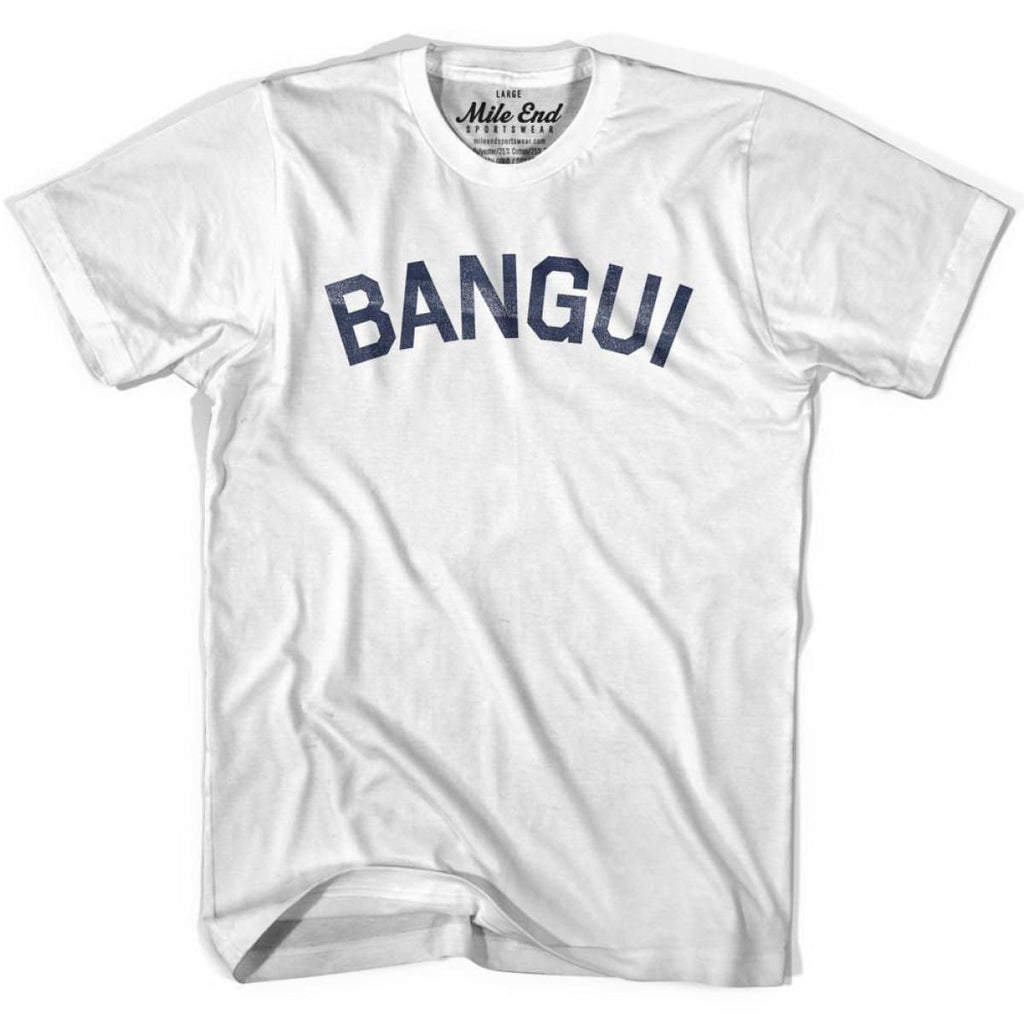 Bangui City Vintage T-shirt - White / Youth X-Small - Mile End City