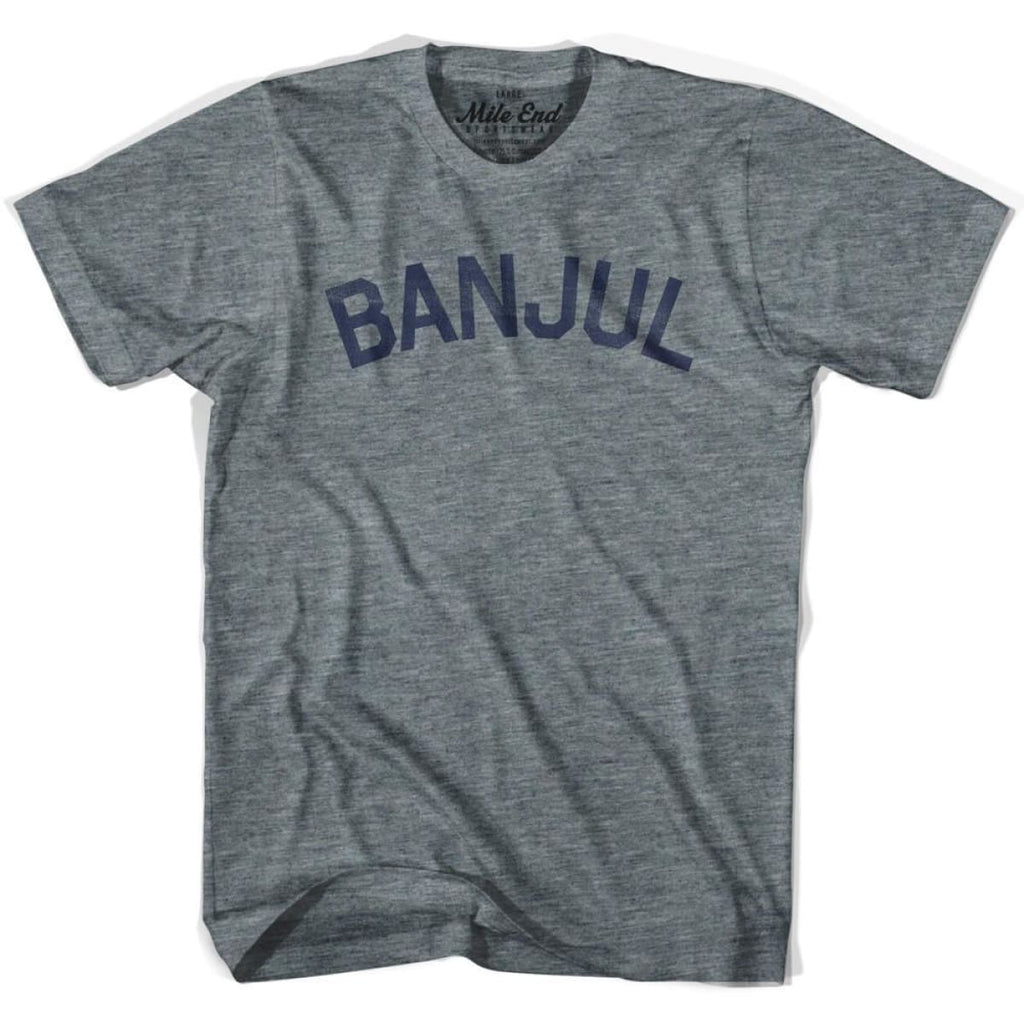 Banjul City Vintage T-shirt - Athletic Grey / Adult X-Small - Mile End City