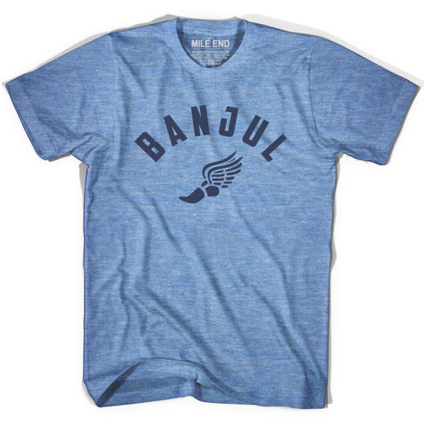 Banjul Track T-shirt - Athletic Blue / Adult X-Small - Mile End Track