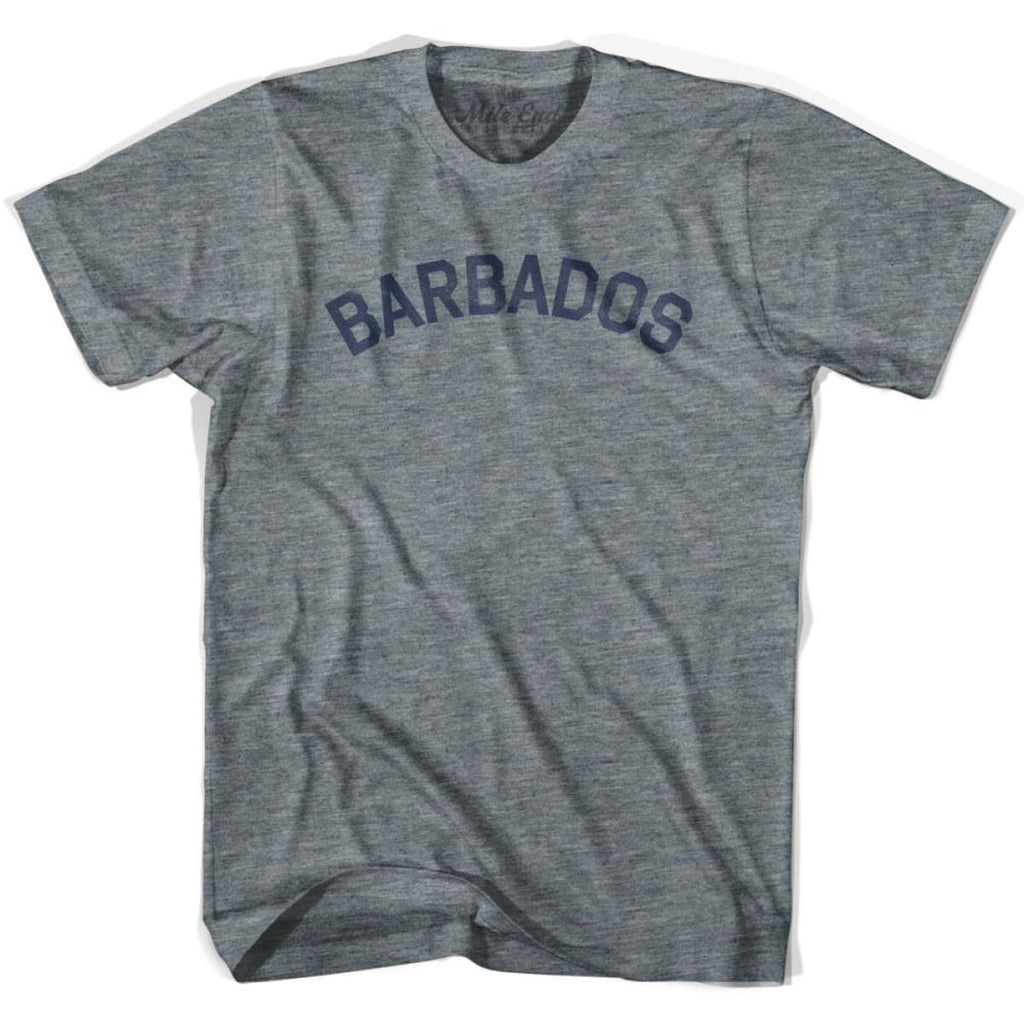 Barbados City Vintage T-shirt - Athletic Grey / Adult X-Small - Mile End City