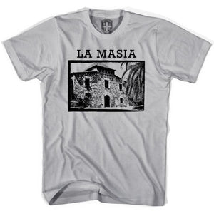 Barcelona La Masia T-shirt - Cool Grey / Youth X-Small - Ultras Soccer T-shirts
