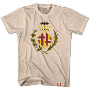 Barcelona Original Crest Soccer T-shirt - Creme / Adult Small - Ultras City T-shirts