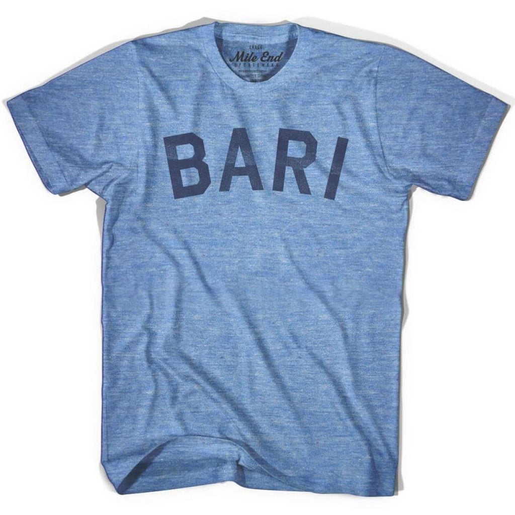 Bari City Vintage T-shirt - Athletic Blue / Adult X-Small - Mile End City