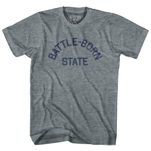 Nevada Battle-Born State Nickname Adult Tri-Blend T-shirt by Ultras