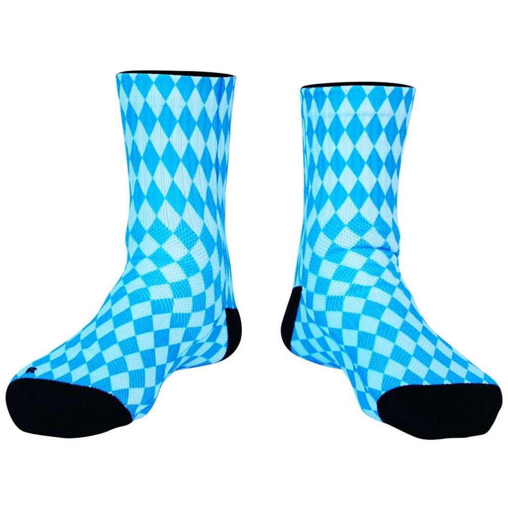 Bavarian Diamonds Premium Athletic Half Crew Socks - Blue / Medium - Socks