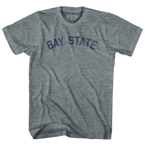Massachusetts Bay State Nickname Adult Tri-Blend T-shirt by Ultras