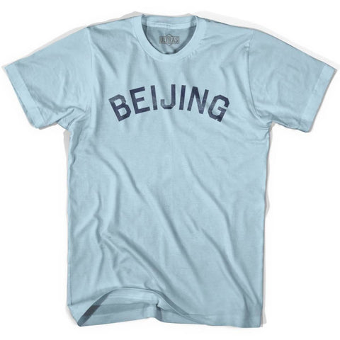 Beijing Vintage City Adult Cotton T-shirt - Light Blue / Adult Small - Asian Vintage City