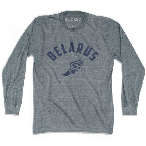 Belarus Track Long Sleeve T-shirt - Athletic Grey / Adult X-Small - Mile End Track