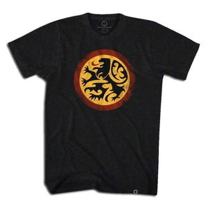 Belgium Lion Soccer T-shirt - Black / Adult Small - Ultras Soccer Country T-shirts