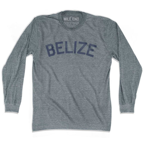 Belize City Vintage Long Sleeve T-shirt - Athletic Grey / Adult X-Small - Mile End City