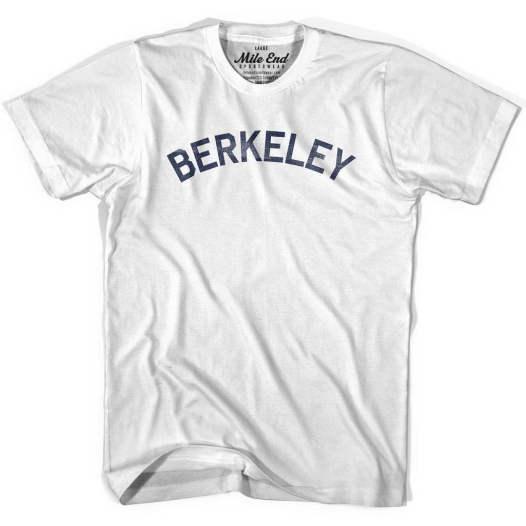 Berkeley City Vintage T-shirt - White / Youth X-Small - Mile End City