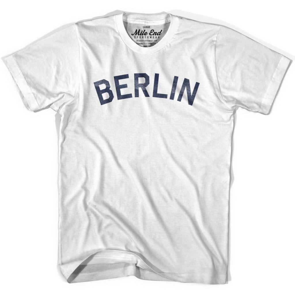 Berlin City Vintage T-shirt - White / Youth X-Small - Mile End City