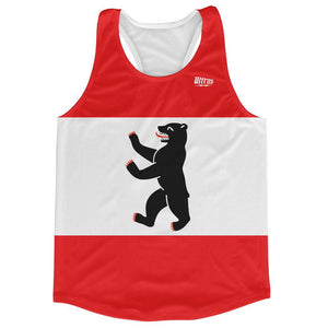 Berlin City Flag Running Tank Top Racerback Track and Cross Country Singlet Jersey by Ultras