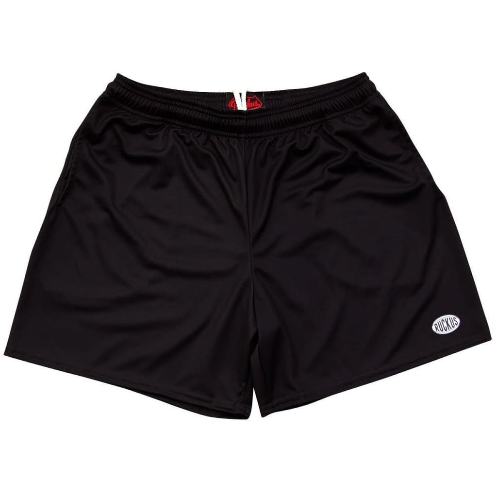 Black Ruckus Rugby Shorts - Black / Adult Small - Rugby Cut Training Shorts