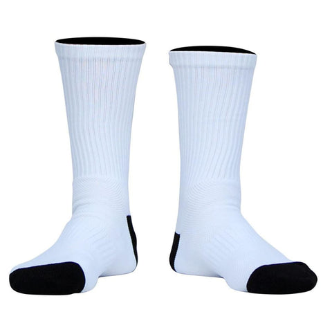 BLZR Blank Athletic Crew Socks - White / Adult Medium - Socks