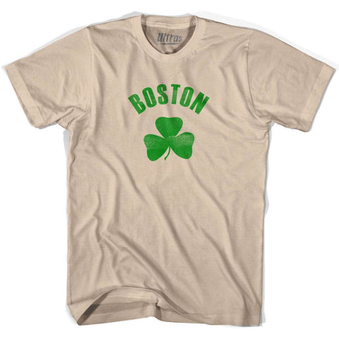 Boston City Shamrock Cotton T-shirt - Creme / Adult Small - Shamrock Collection