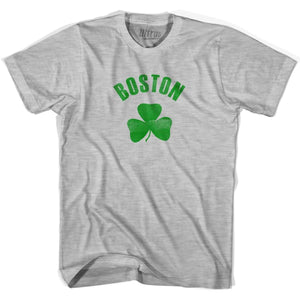 Boston City Shamrock Cotton T-shirt - Grey Heather / Adult Small - Shamrock Collection