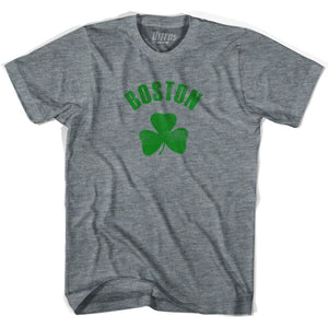 Boston City Shamrock Tri-Blend T-shirt - Athletic Grey / Adult X-Small - Shamrock Collection