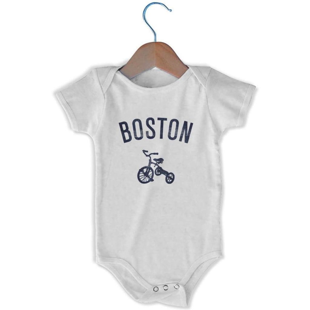 Boston City Tricycle Infant Onesie - White / 6 - 9 Months - Mile End City
