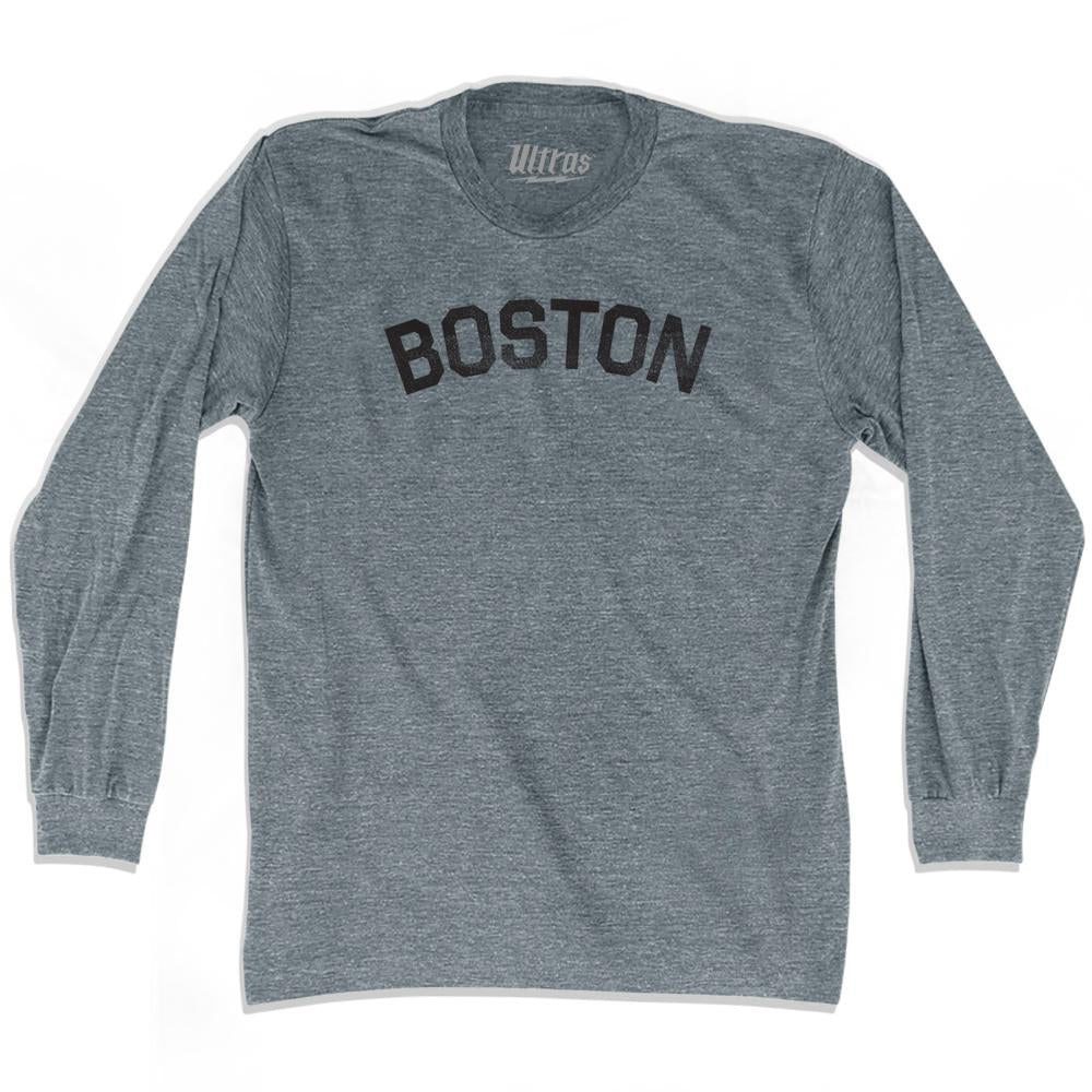 Boston Adult Tri-Blend Long Sleeve T-shirt by Ultras