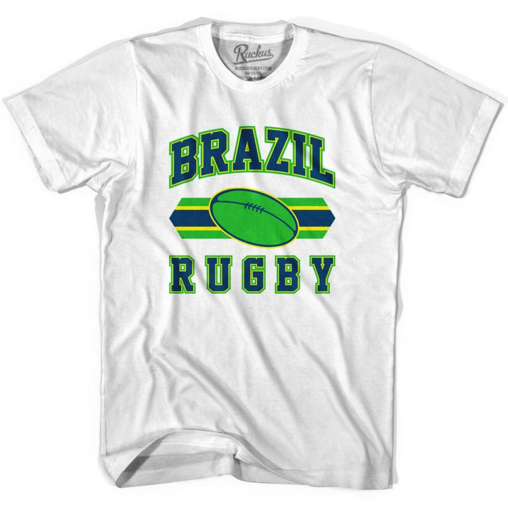 Brazil 90s Rugby Ball T-shirt - White / Youth X-Small - Rugby Sevens