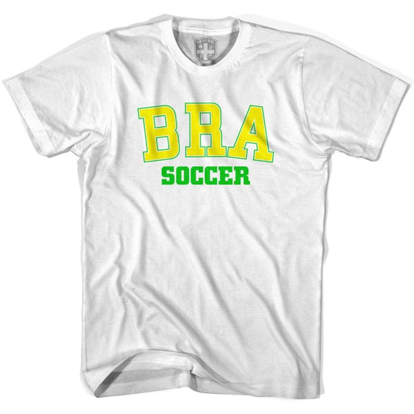 Brazil BRA Soccer Country Code T-shirt - White / Youth X-Small - Ultras Soccer T-shirts