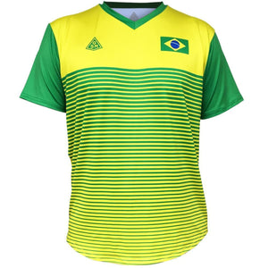 Brazil Rise GSM Tennis Shirt - Yellow-Kelly / Youth X-Small / No - Tennis Shirts