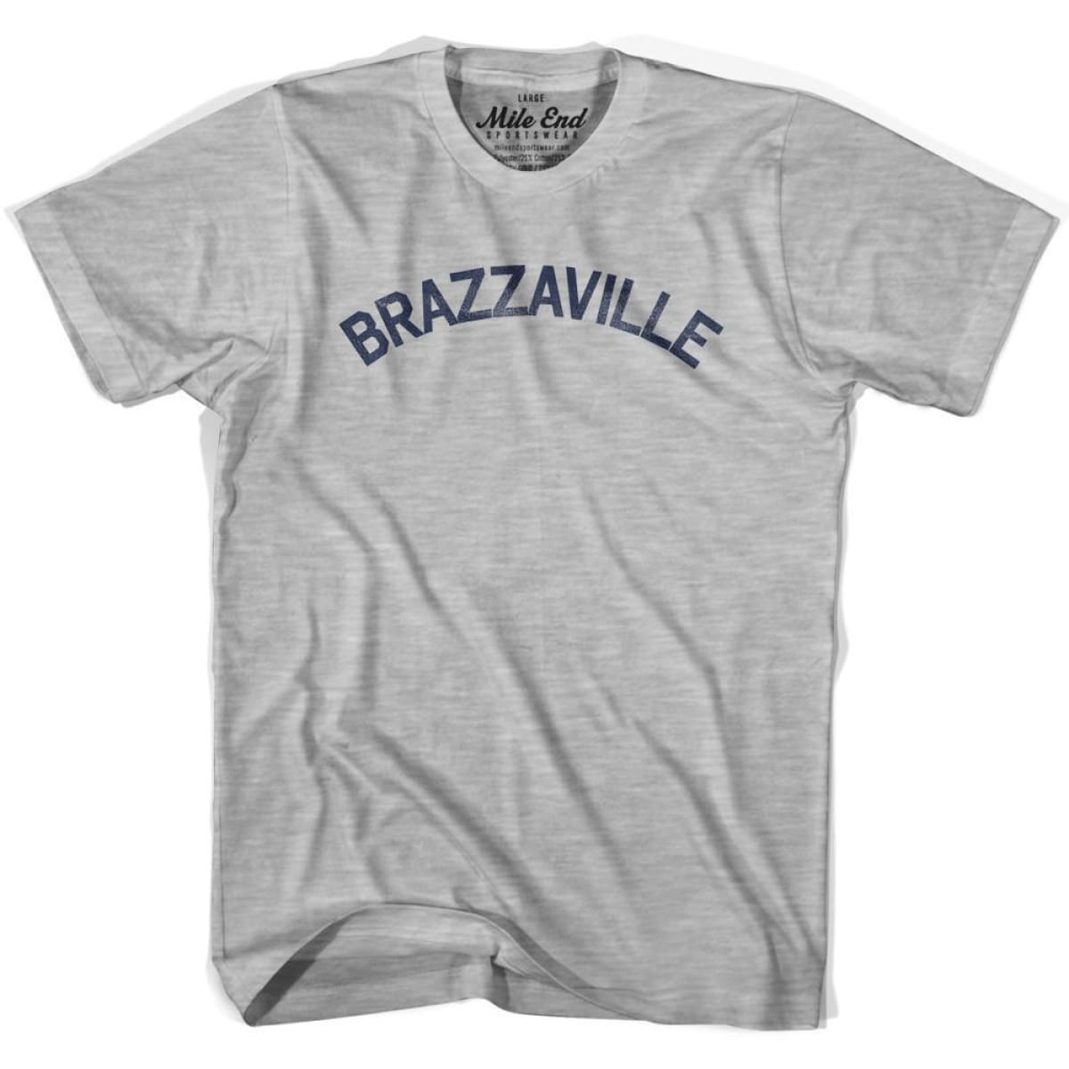 Brazzaville City Vintage T-shirt - Grey Heather / Youth X-Small - Mile End City