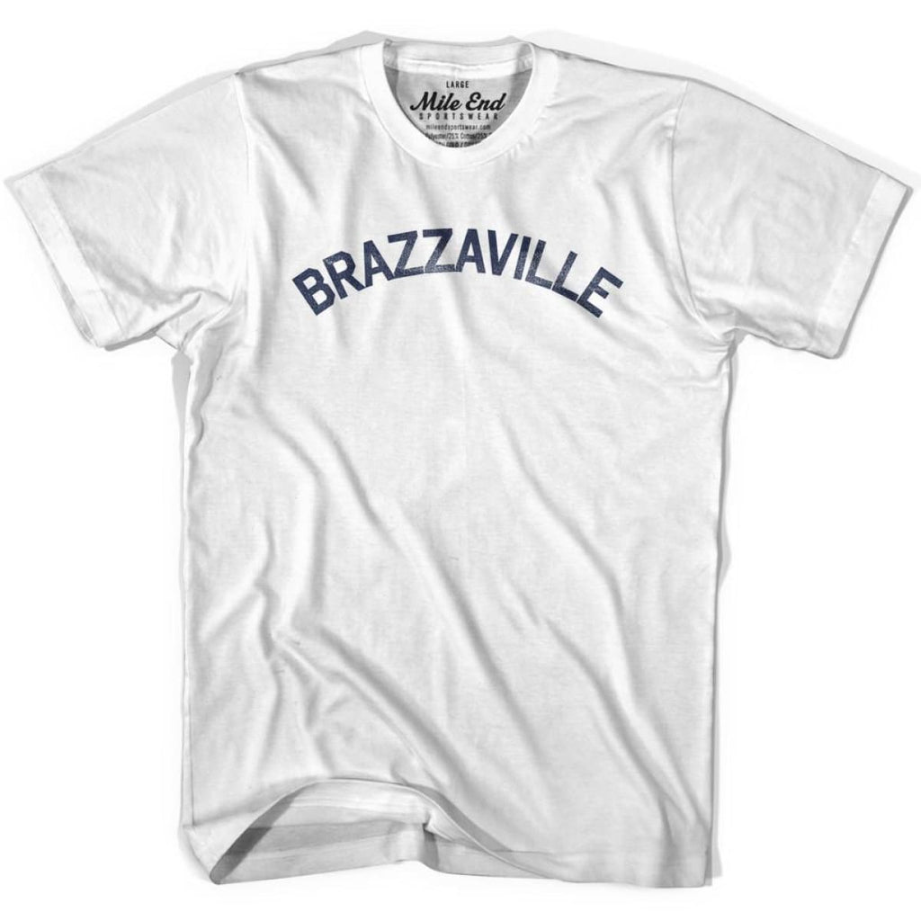 Brazzaville City Vintage T-shirt - White / Youth X-Small - Mile End City