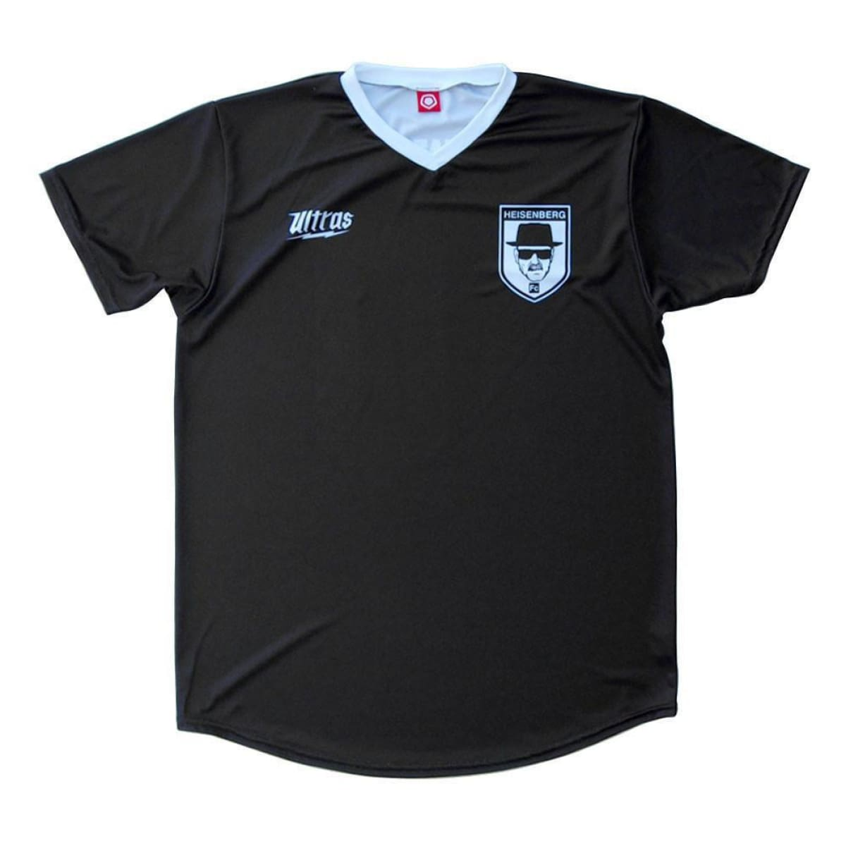 Breaking Bad Heisenberg FC Soccer Jersey - Black / Youth X-Small / No - Ultras Culture Soccer Jerseys