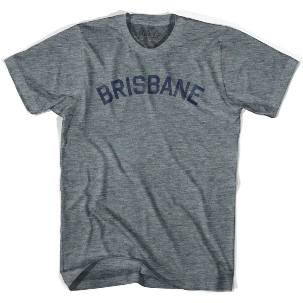 Brisbane City Vintage T-shirt - Athletic Grey / Adult X-Small - Mile End City