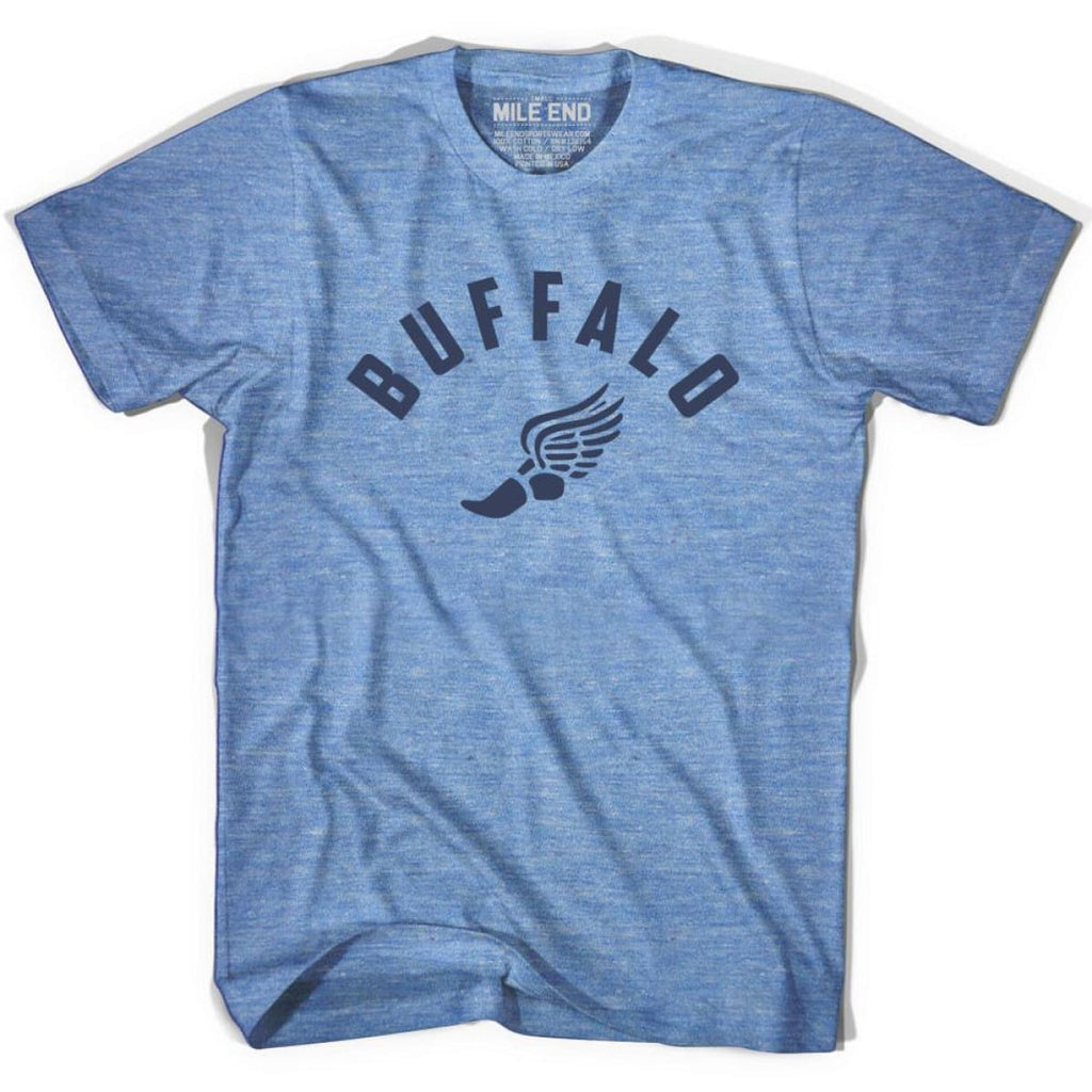 Buffalo Track T-shirt - Athletic Blue / Adult X-Small - Mile End Track