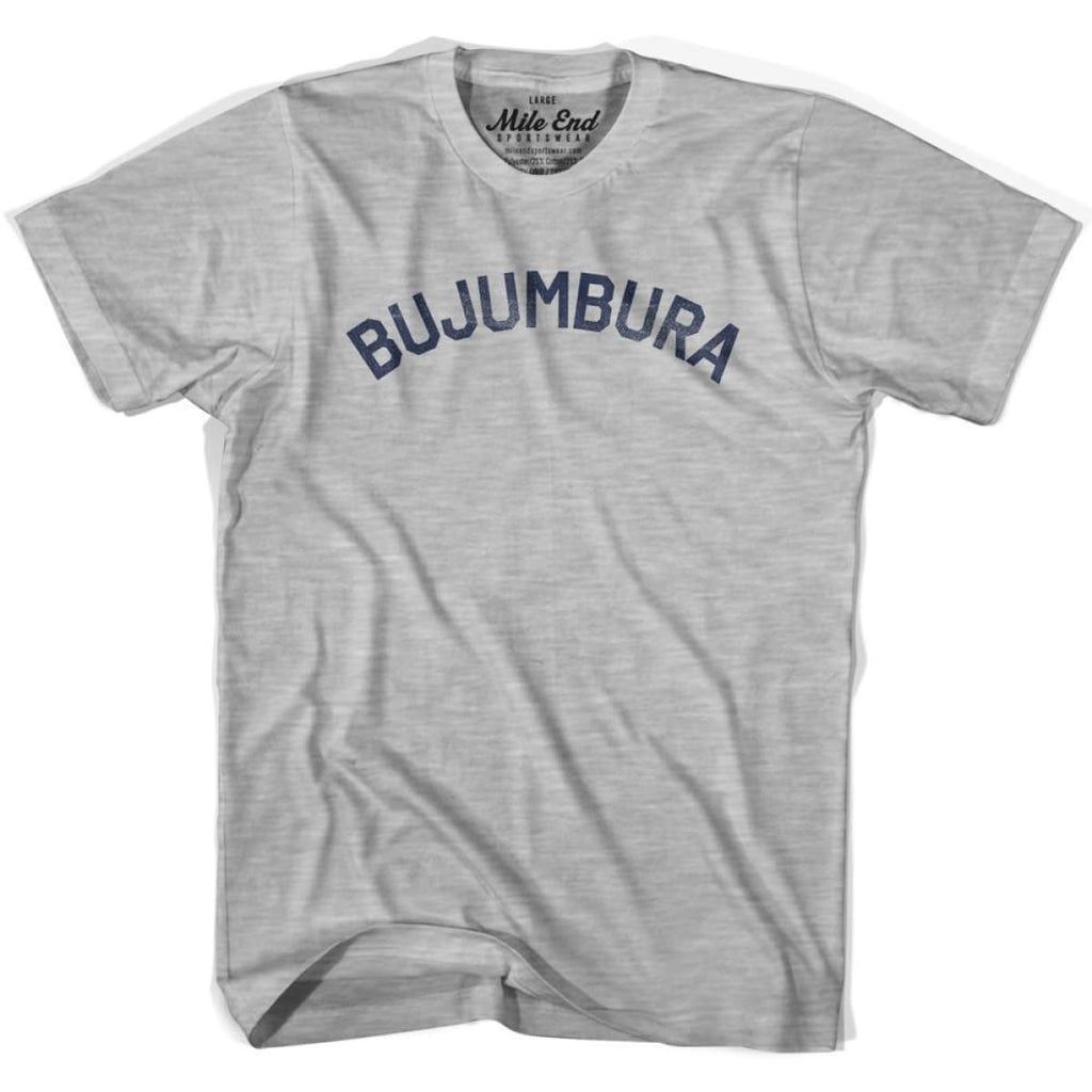 Bujumbura City Vintage T-shirt - Grey Heather / Youth X-Small - Mile End City