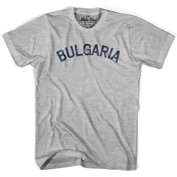 Bulgaria City Vintage T-shirt - Grey Heather / Youth X-Small - Mile End City