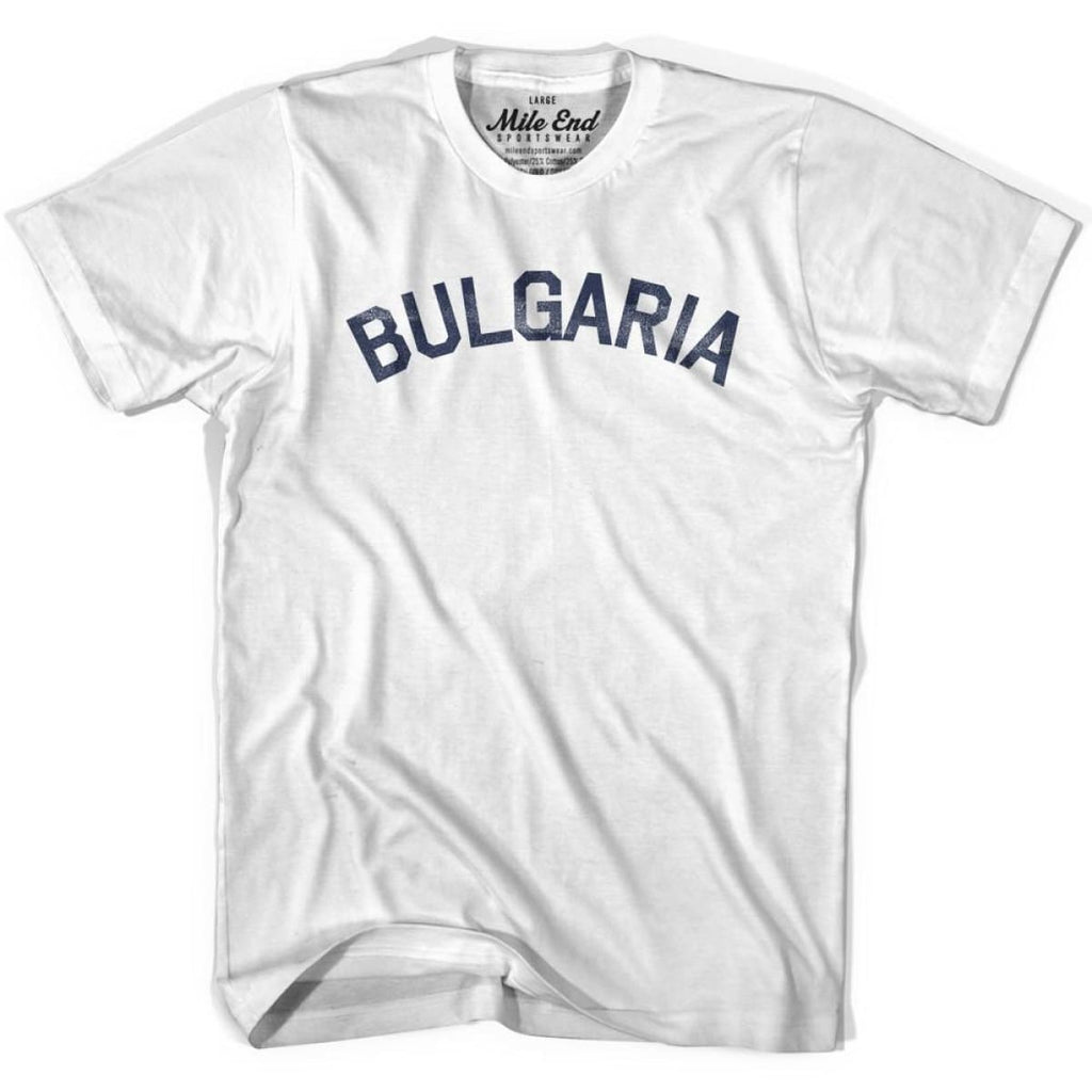Bulgaria City Vintage T-shirt - White / Youth X-Small - Mile End City