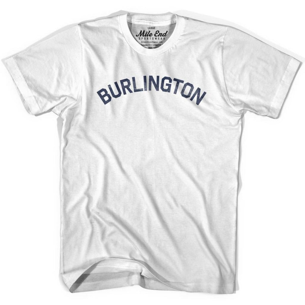 Burlington City Vintage T-shirt - White / Youth X-Small - Mile End City