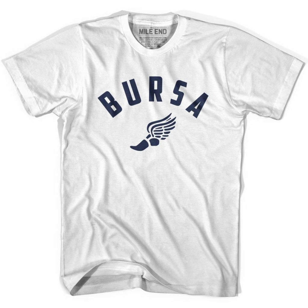 Bursa Track T-shirt - White / Youth X-Small - Mile End Track