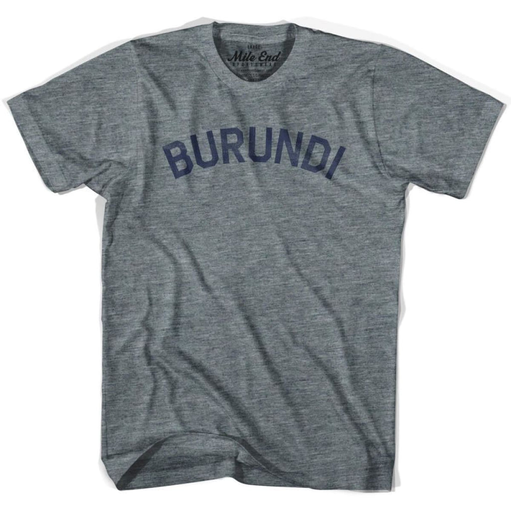 Burundi City Vintage T-shirt - Athletic Grey / Adult X-Small - Mile End City