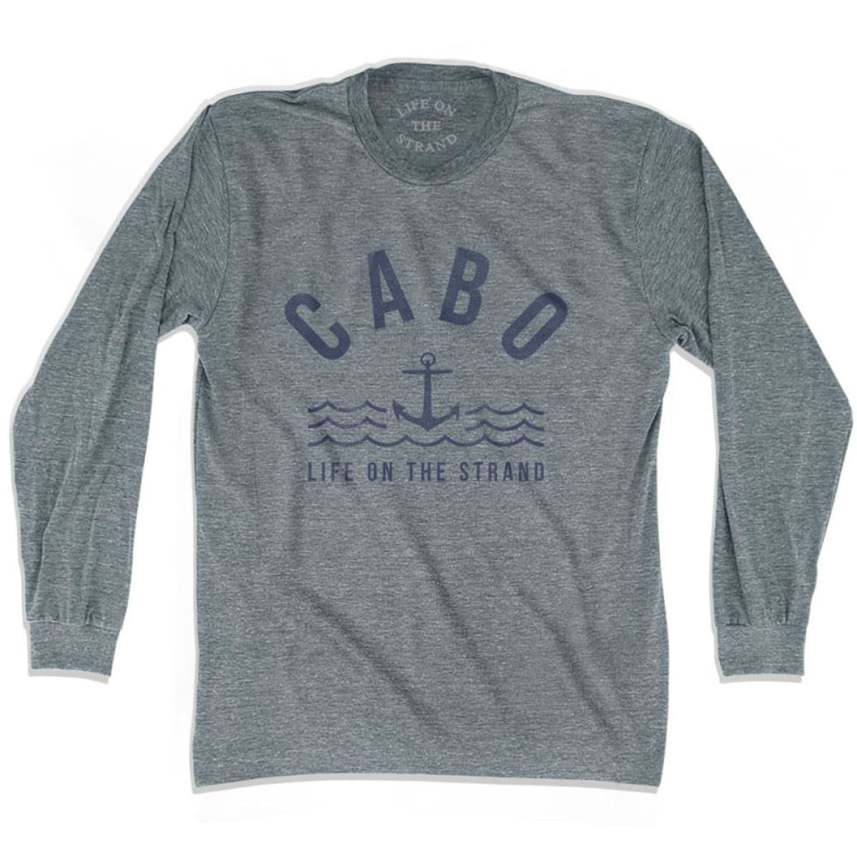 Cabo Anchor Life on the Strand Long Sleeve T-shirt - Athletic Grey / Adult X-Small - Life on the Strand Anchor
