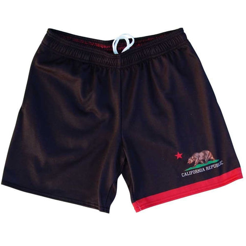 California Flag Athletic Fleece Sweatshorts - Black / Adult Small - Sweat Shorts
