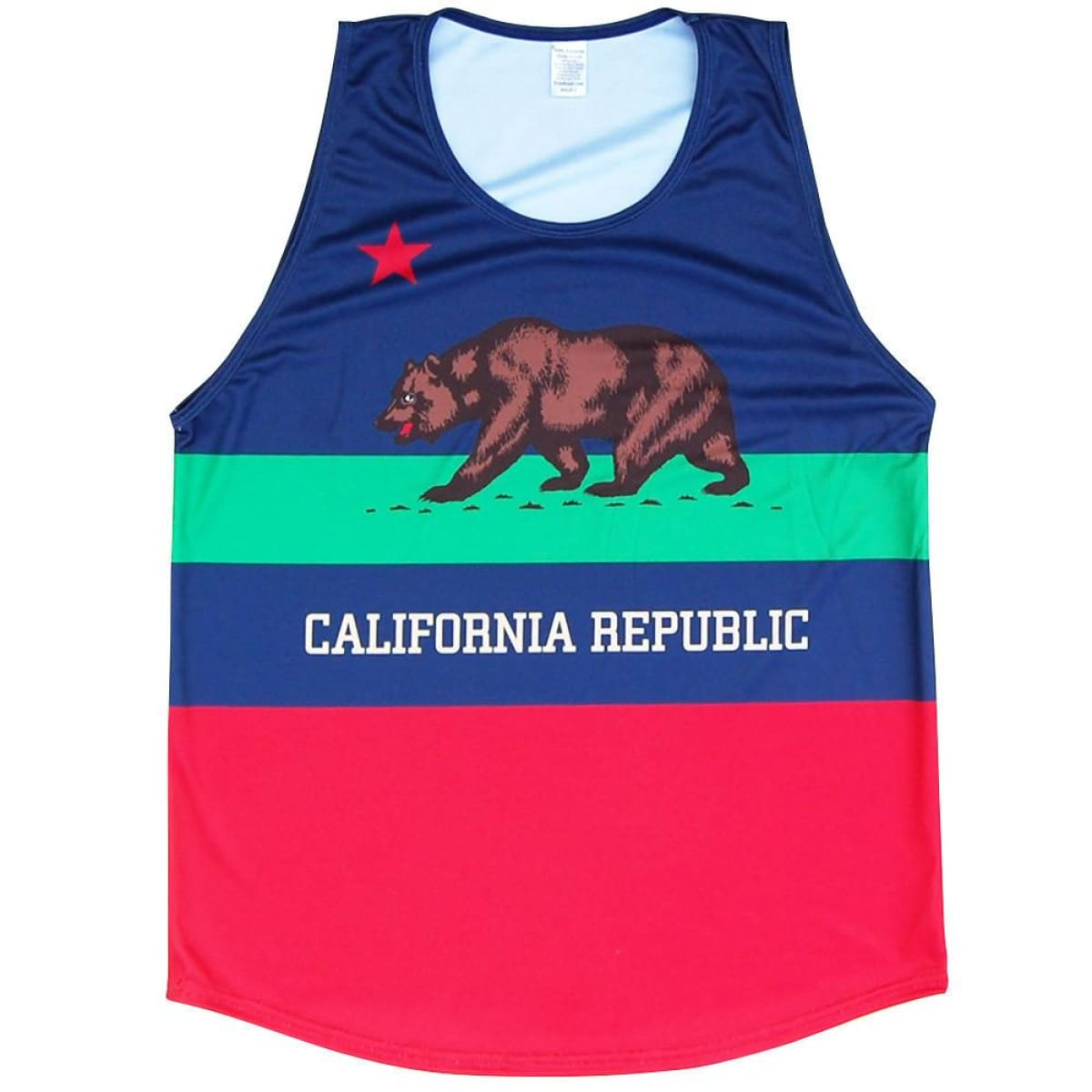 California Flag Sport Tank - Navy / Youth X-Small - Lacrosse Tank Top