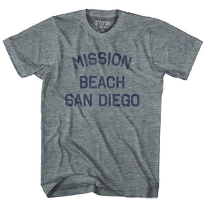 California Mission Beach, San Diego Adult Tri-Blend Vintage T-shirt by Ultras
