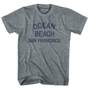 California Ocean Beach, San Francisco Adult Tri-Blend Vintage T-shirt by Ultras