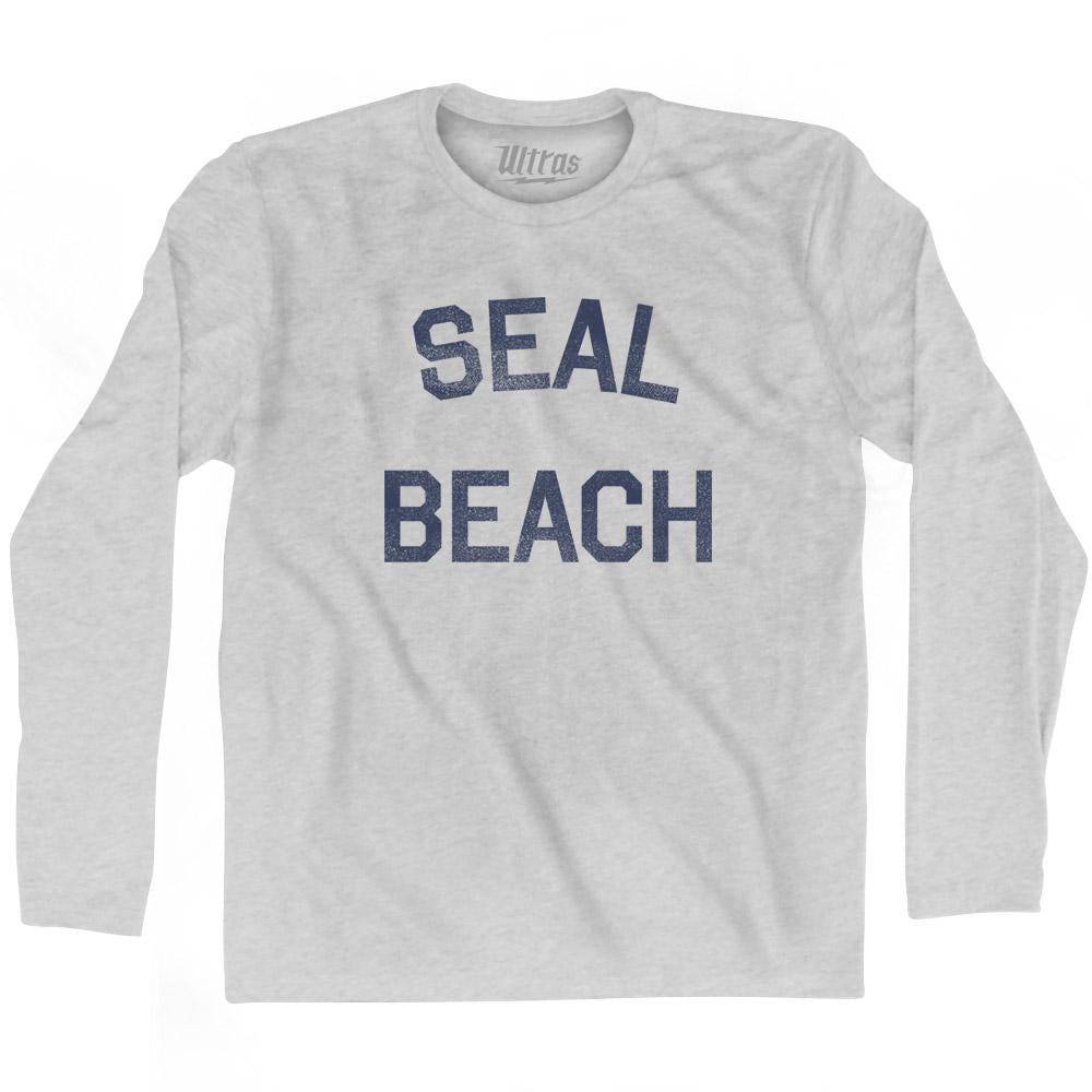 California Seal Beach Adult Cotton Long Sleeve Vintage T-shirt by Ultras