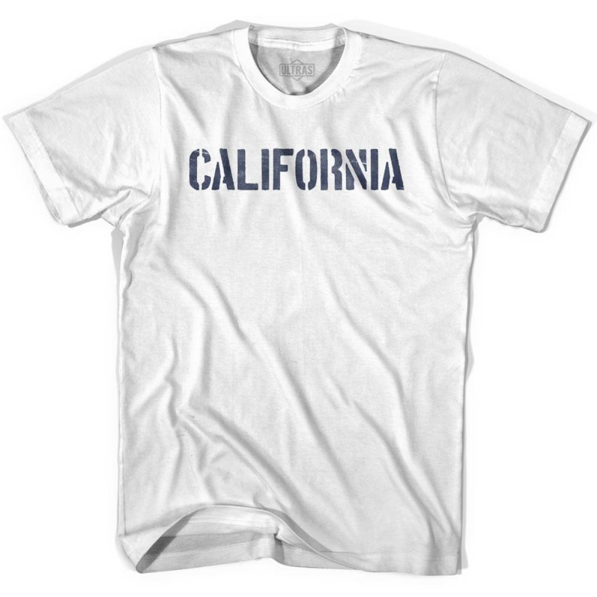 California State Stencil Adult Cotton T-shirt - White / Adult Small - Stencil State