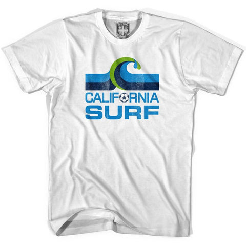 California Surf Vintage Soccer T-shirt - White / Youth X-Small - Ultras Soccer T-shirts