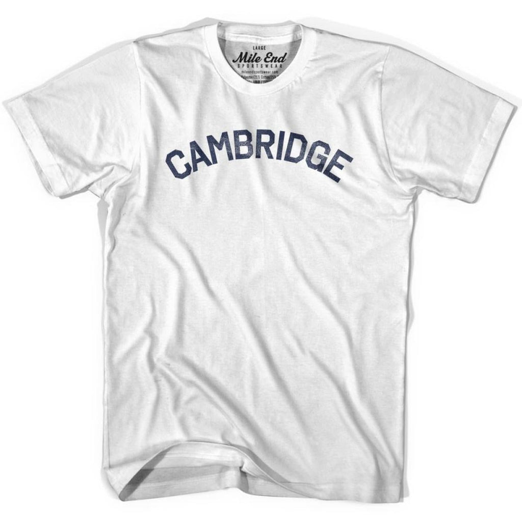 Cambridge City Vintage T-shirt - White / Youth X-Small - Mile End City