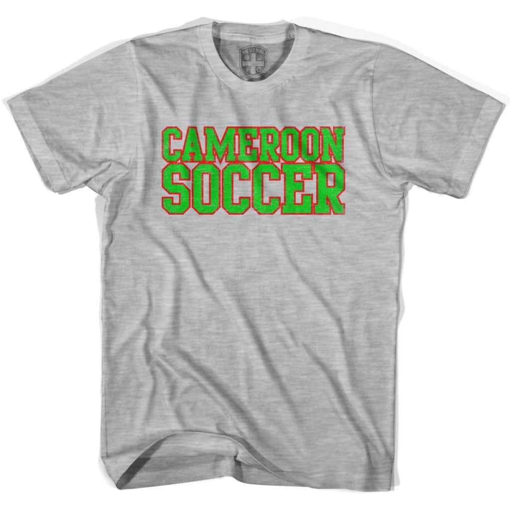 Cameroon Soccer Nations World Cup T-shirt - Grey Heather / Youth X-Small - Ultras Soccer T-shirts